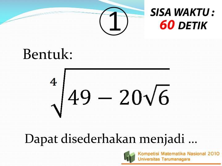 Babak final kompetisi matematika 2010 30 soal rebutan 20 poin