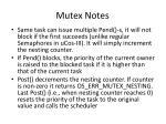 mutex notes