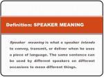 definition speaker meaning