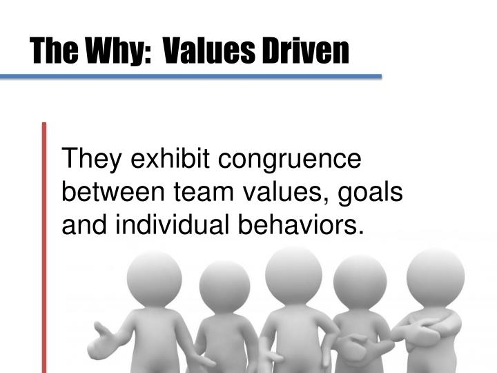 The Why:  Values Driven
