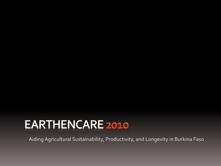 Earthencare 2010