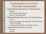 facilitating division of labor work and communication