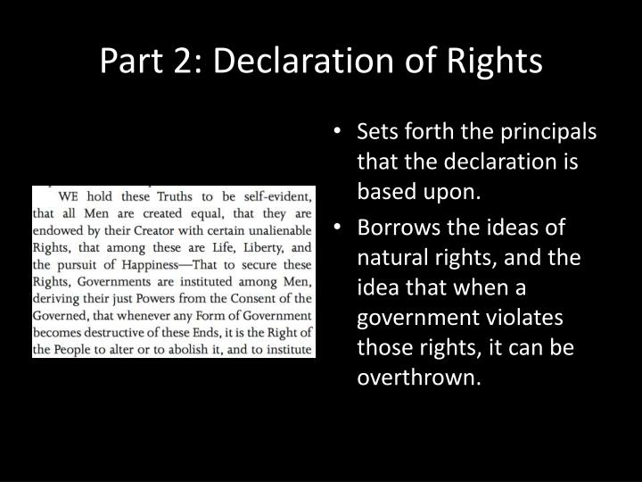 Part 2: Declaration of Rights