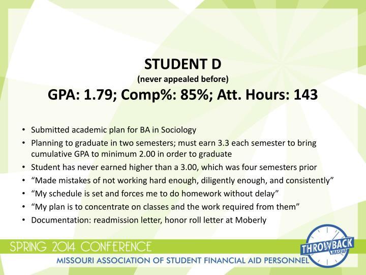 STUDENT D