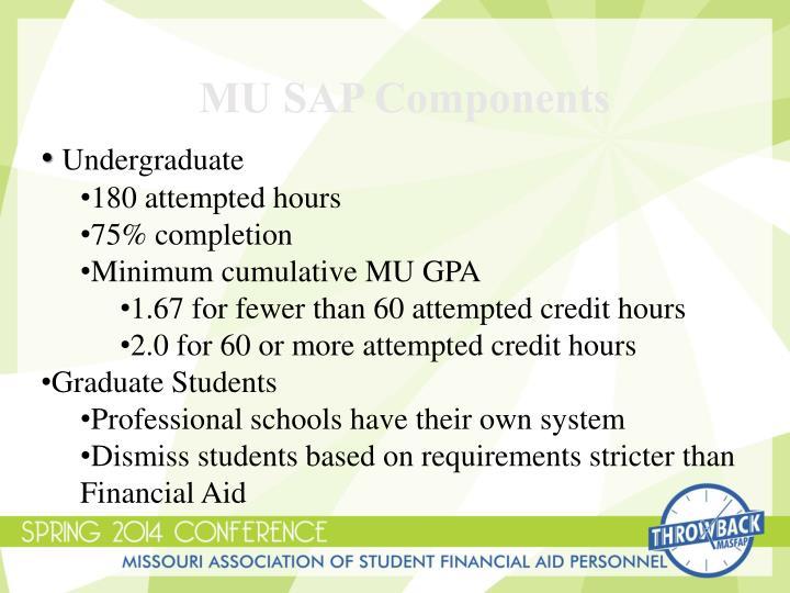MU SAP Components