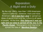 expansion a right and a duty