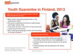 youth guarantee in finland 20132
