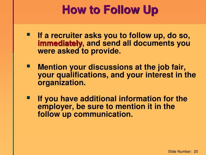 How to Follow Up
