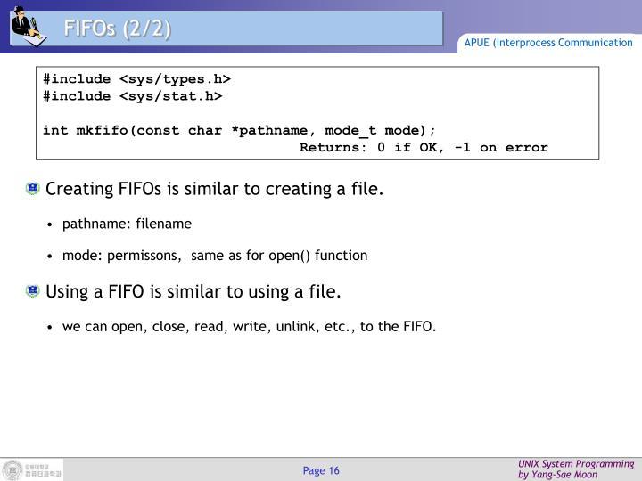 FIFOs (
