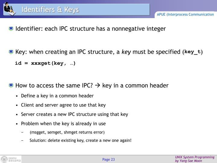Identifiers & Keys