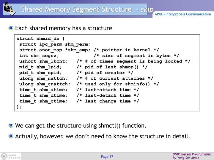 Shared Memory Segment