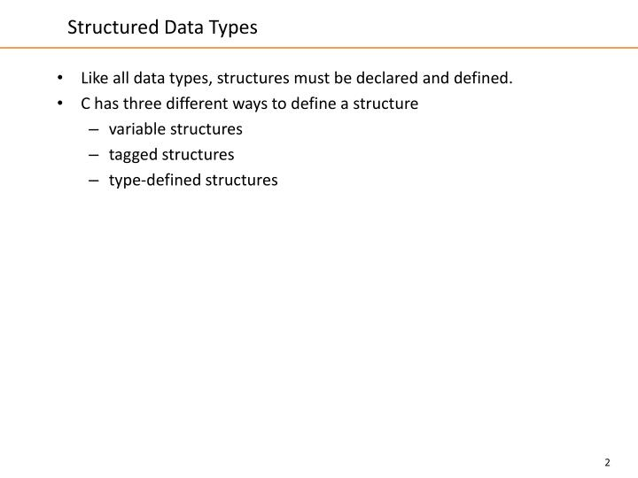 Structured data types1