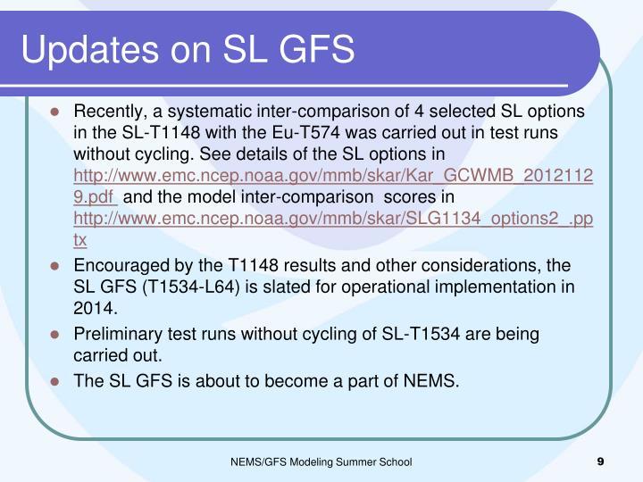 Updates on SL GFS