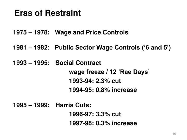 Eras of Restraint