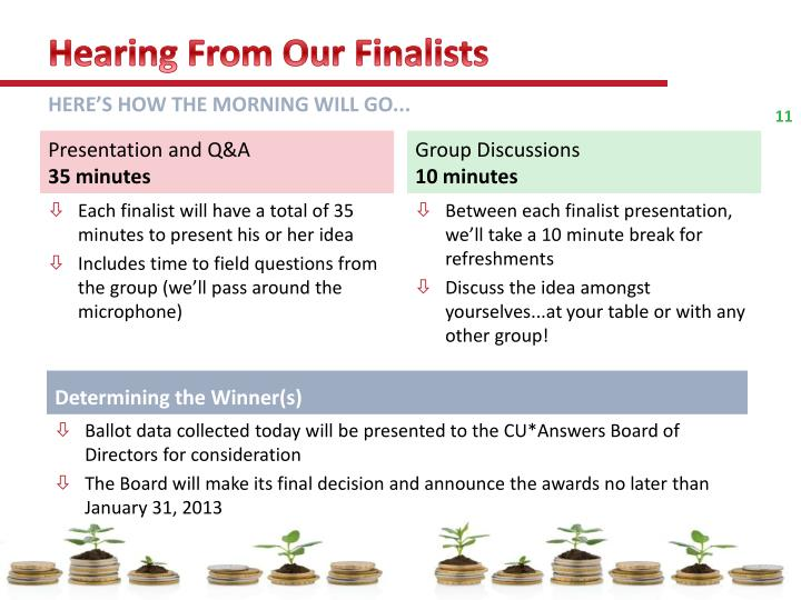 Hearing From Our Finalists