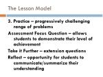 the lesson model3