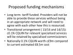 proposed funding mechanisms