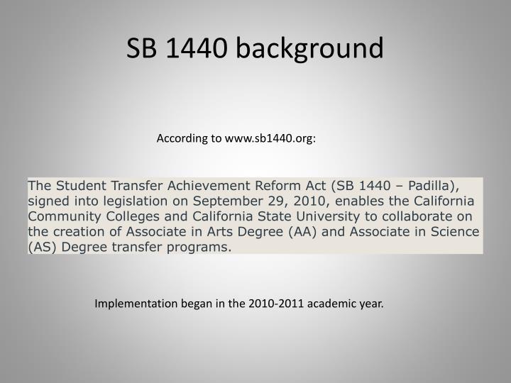 SB 1440 background