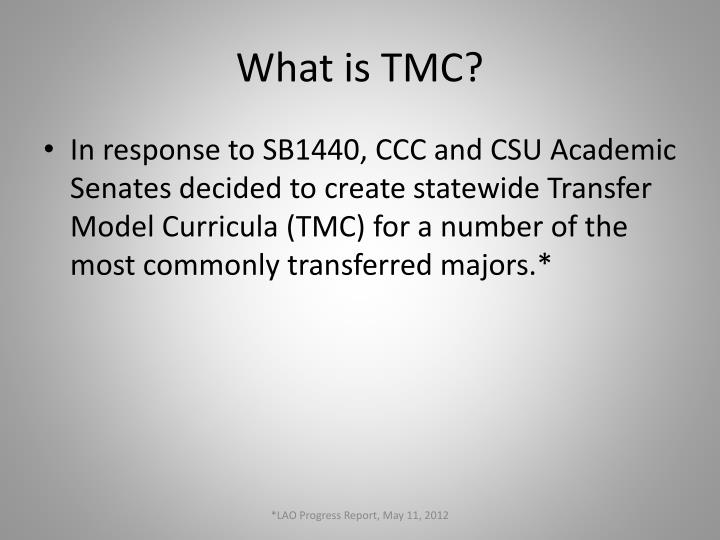 What is TMC?