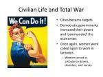 civilian life and total war