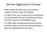 german aggression in europe