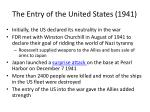 the entry of the united states 1941