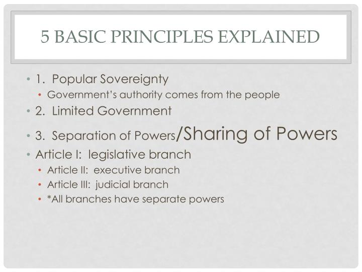 5 Basic Principles Explained