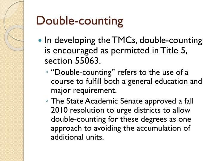 Double-counting
