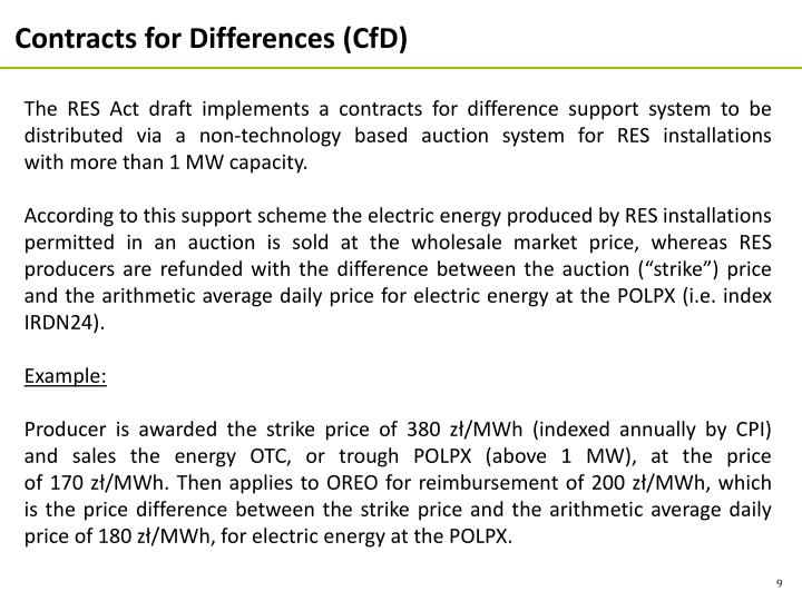 Contracts for Differences (CfD)