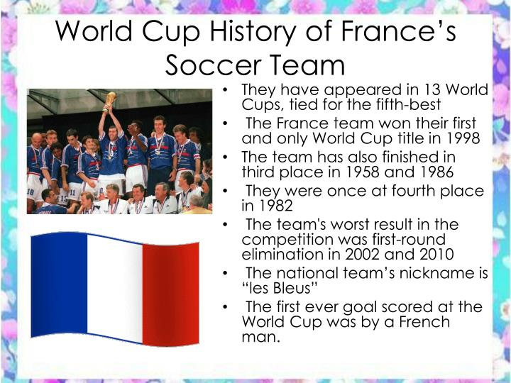 World Cup History of France's Soccer Team
