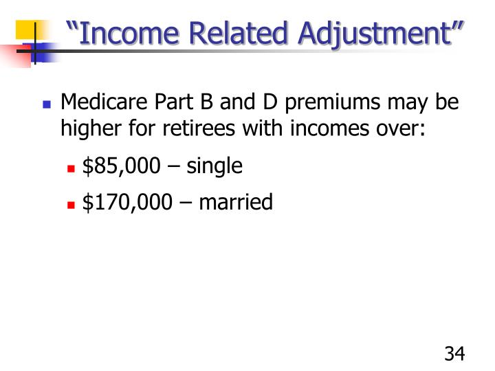 """Income Related Adjustment"""