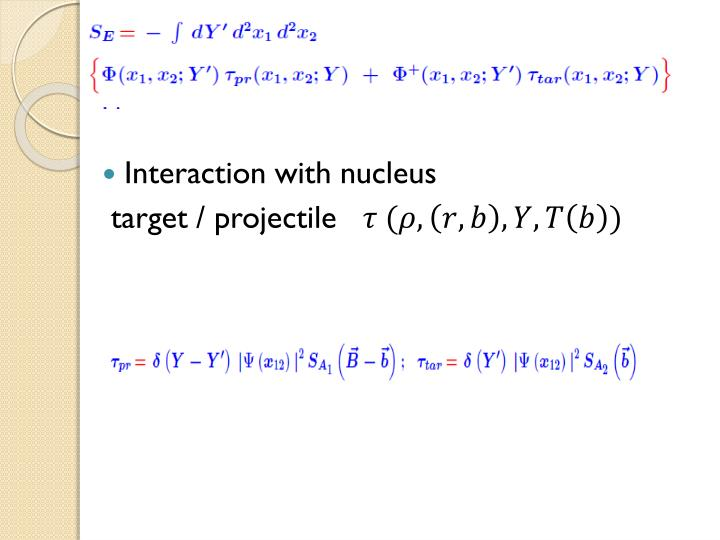 Interaction with nucleus