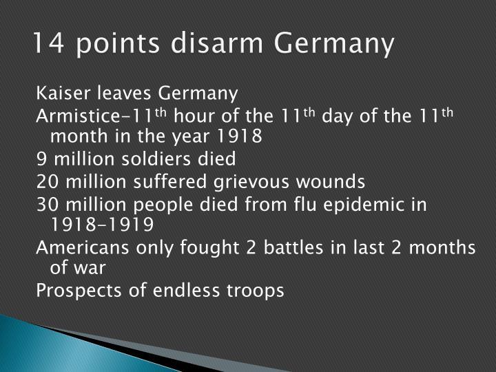 14 points disarm Germany