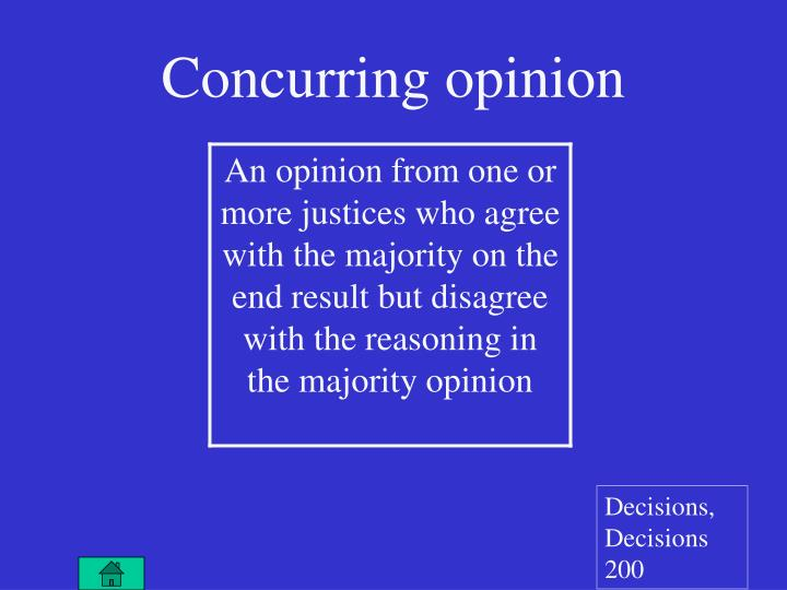Concurring opinion
