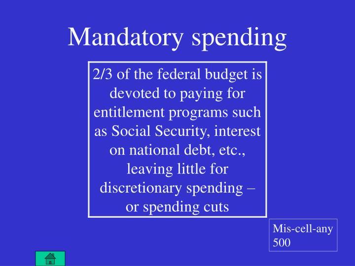 Mandatory spending