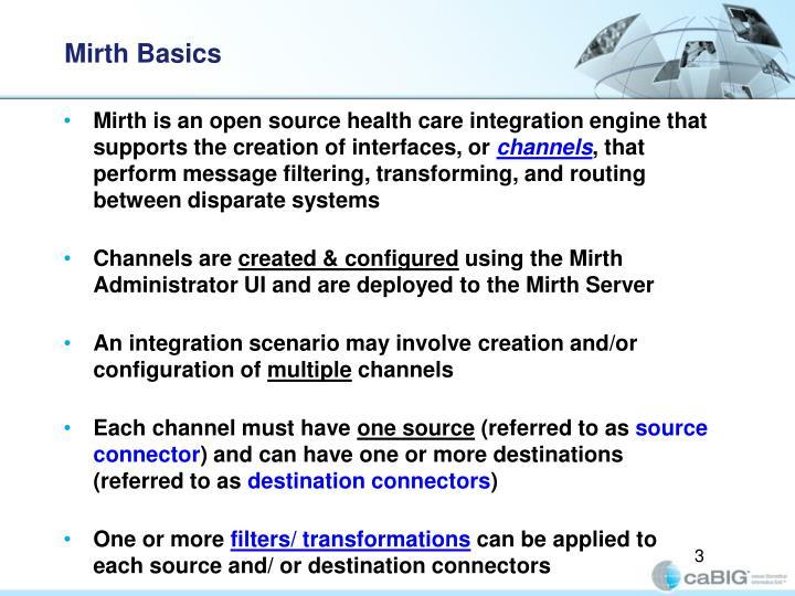 Mirth basics
