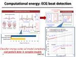 computational energy ecg beat detection
