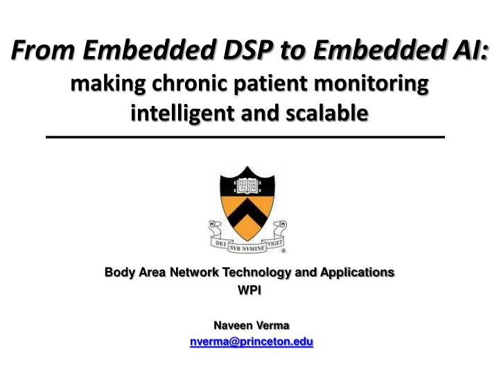 from embedded dsp to embedded ai making chronic patient monitoring intelligent and scalable n.