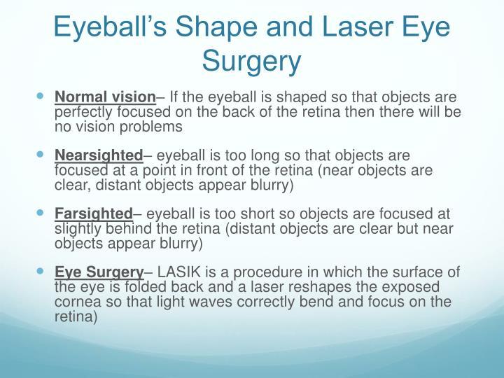 Eyeball's Shape and Laser Eye Surgery