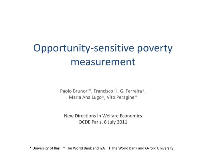 opportunity sensitive poverty measurement n.