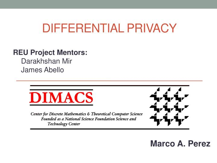 differential privacy n.