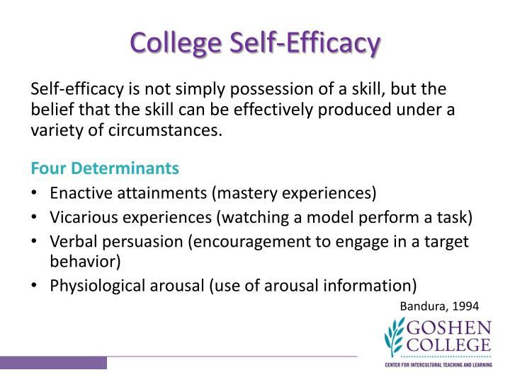 College Self-Efficacy