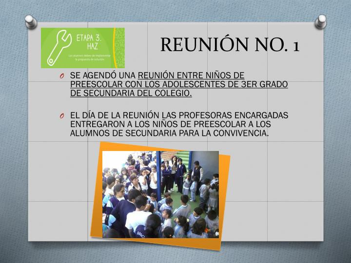 REUNIÓN NO. 1
