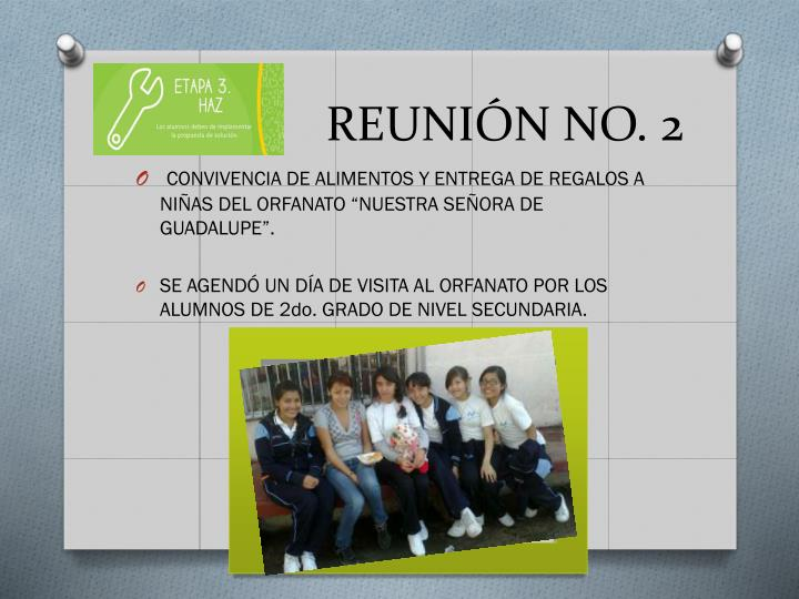 REUNIÓN NO. 2