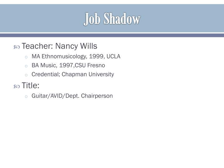 Job Shadow