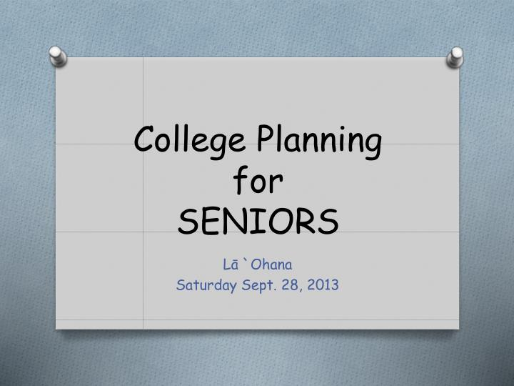 college planning for seniors n.