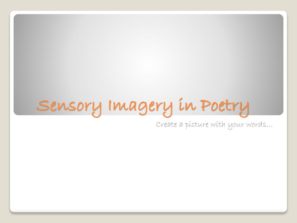 words that create imagery