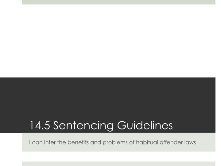 14.5 Sentencing Guidelines