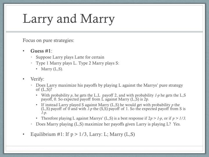 Larry and Marry
