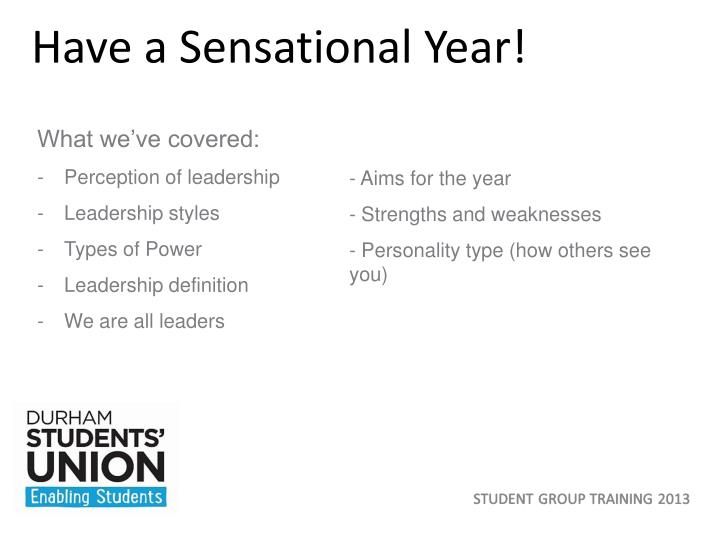 Have a Sensational Year!
